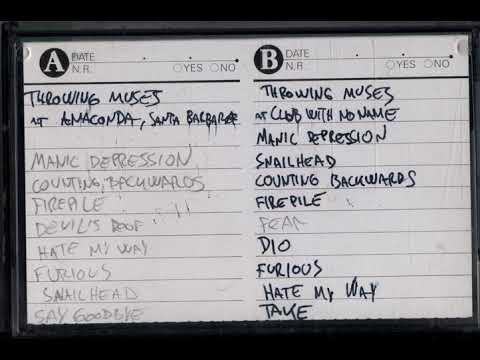 Throwing Muses live at Anaconda, Santa Barbara 12/9/92 (bootleg audience recording)